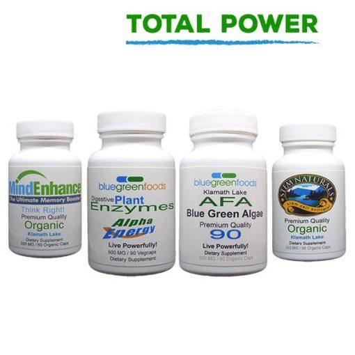total power afa blue green algae stem cell activator digestive enzymes mind enhance klamath lake organic food supplement
